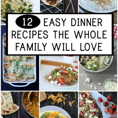 Getting dinner on the table can be challenging, but these 12 easy dinner recipes are simple and super delicious.
