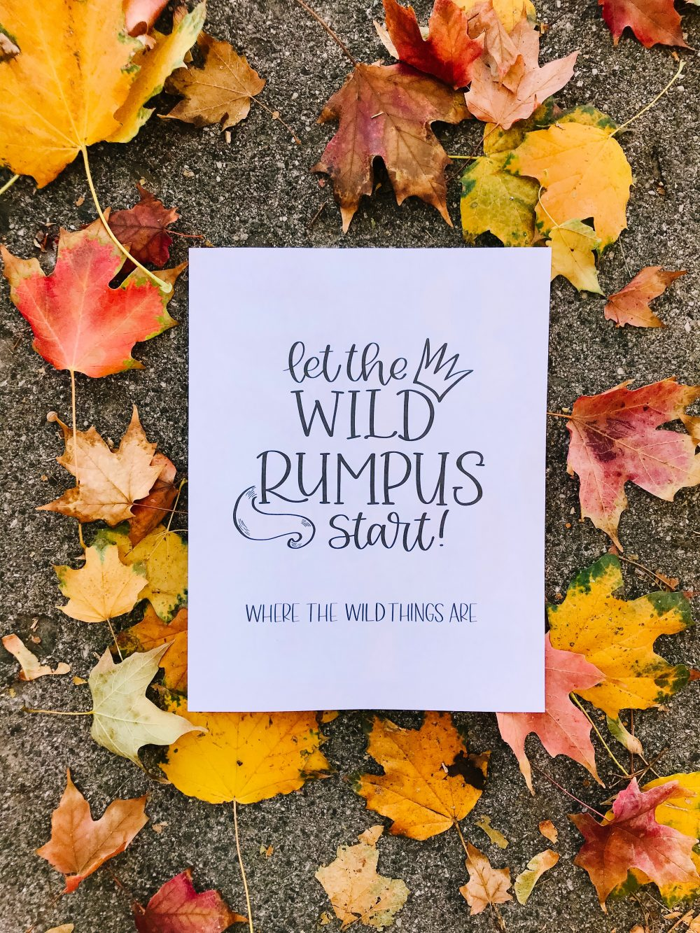 photo about Let the Wild Rumpus Start Printable identify Free of charge In which the Wild Variables Are Print - Daily Examining
