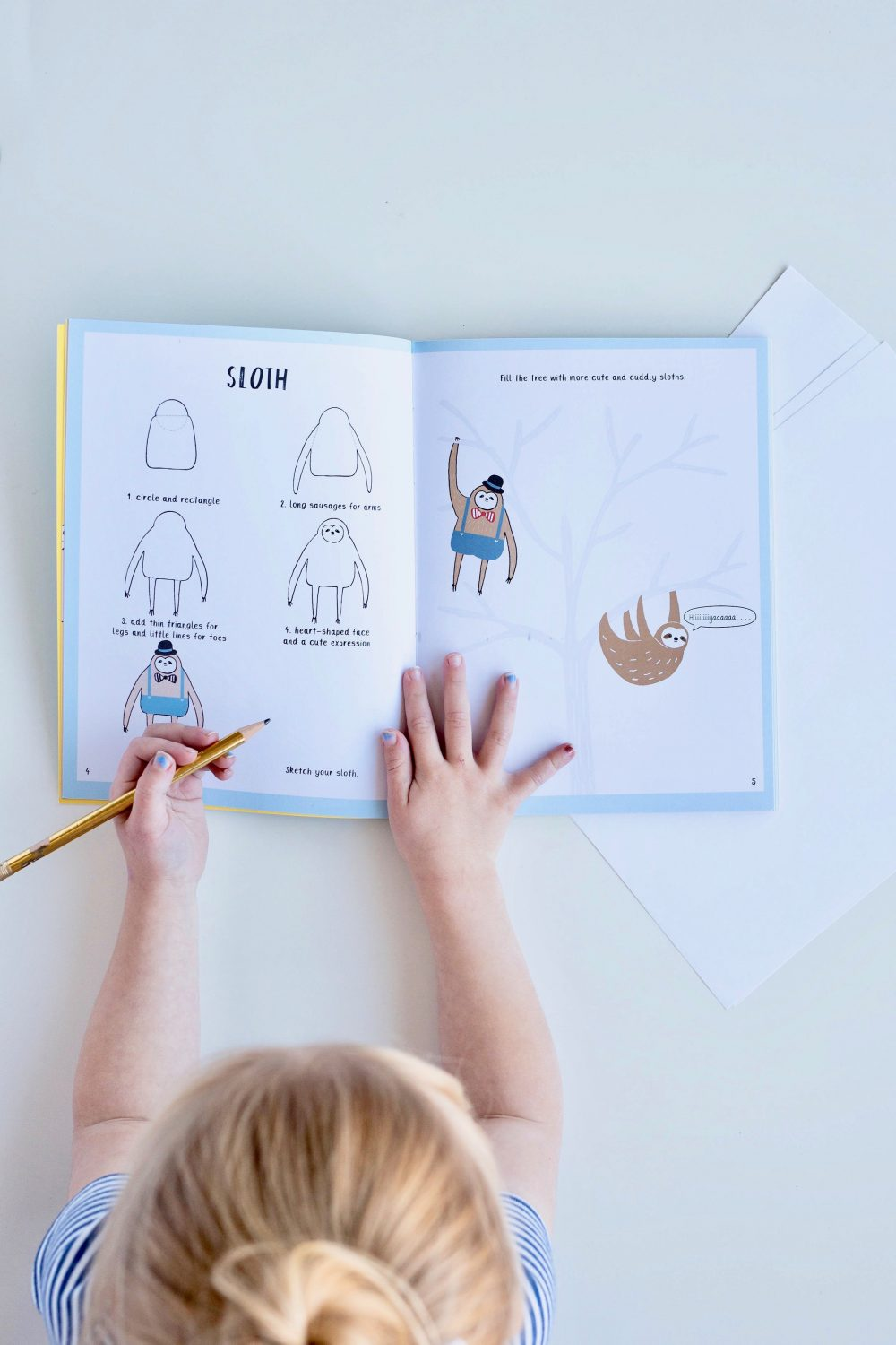 How to draw book for kids vintage