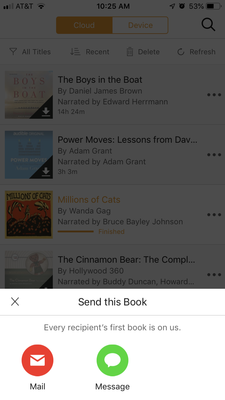 share audible book with friend