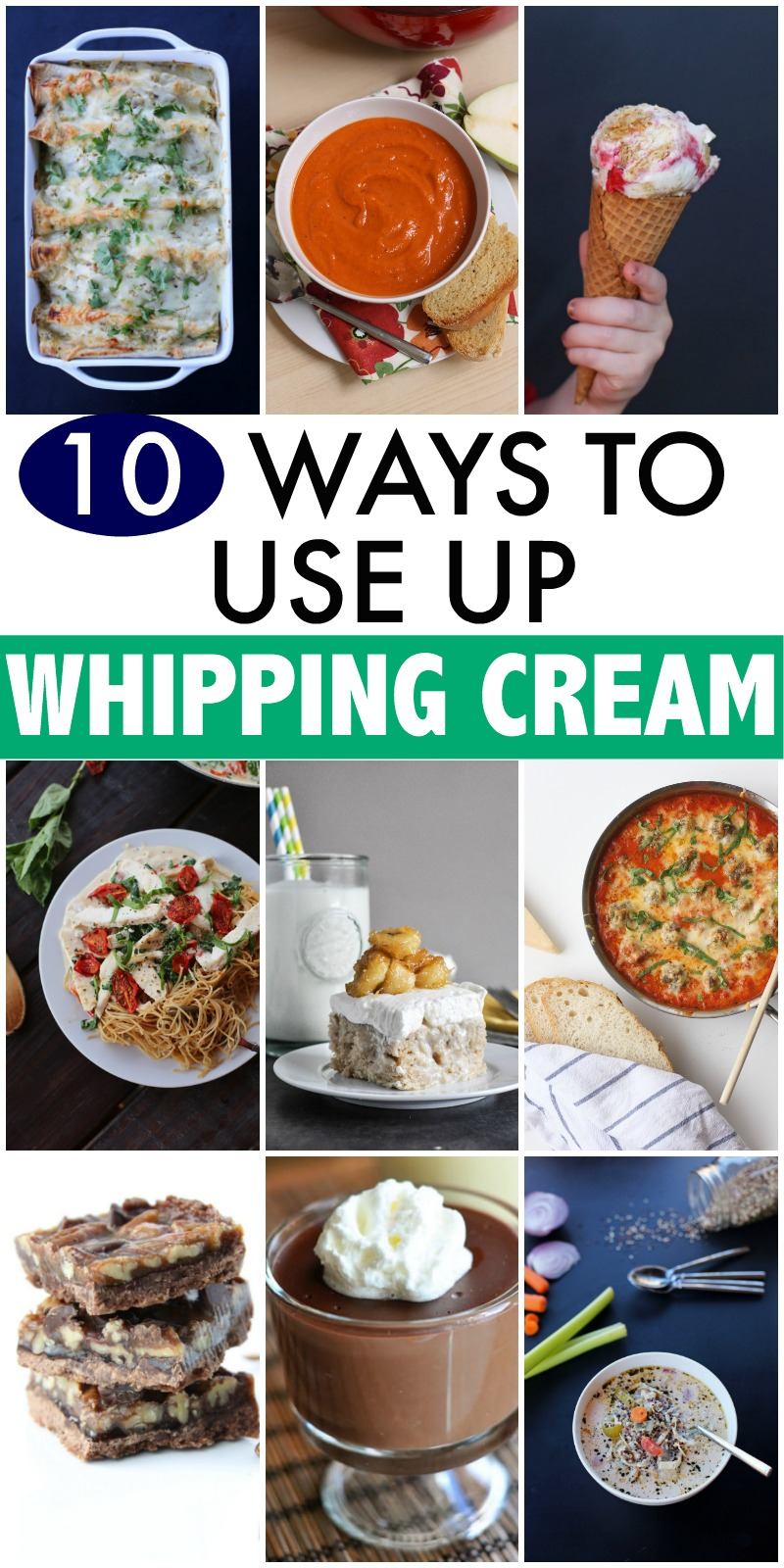 ways to use up whipping cream