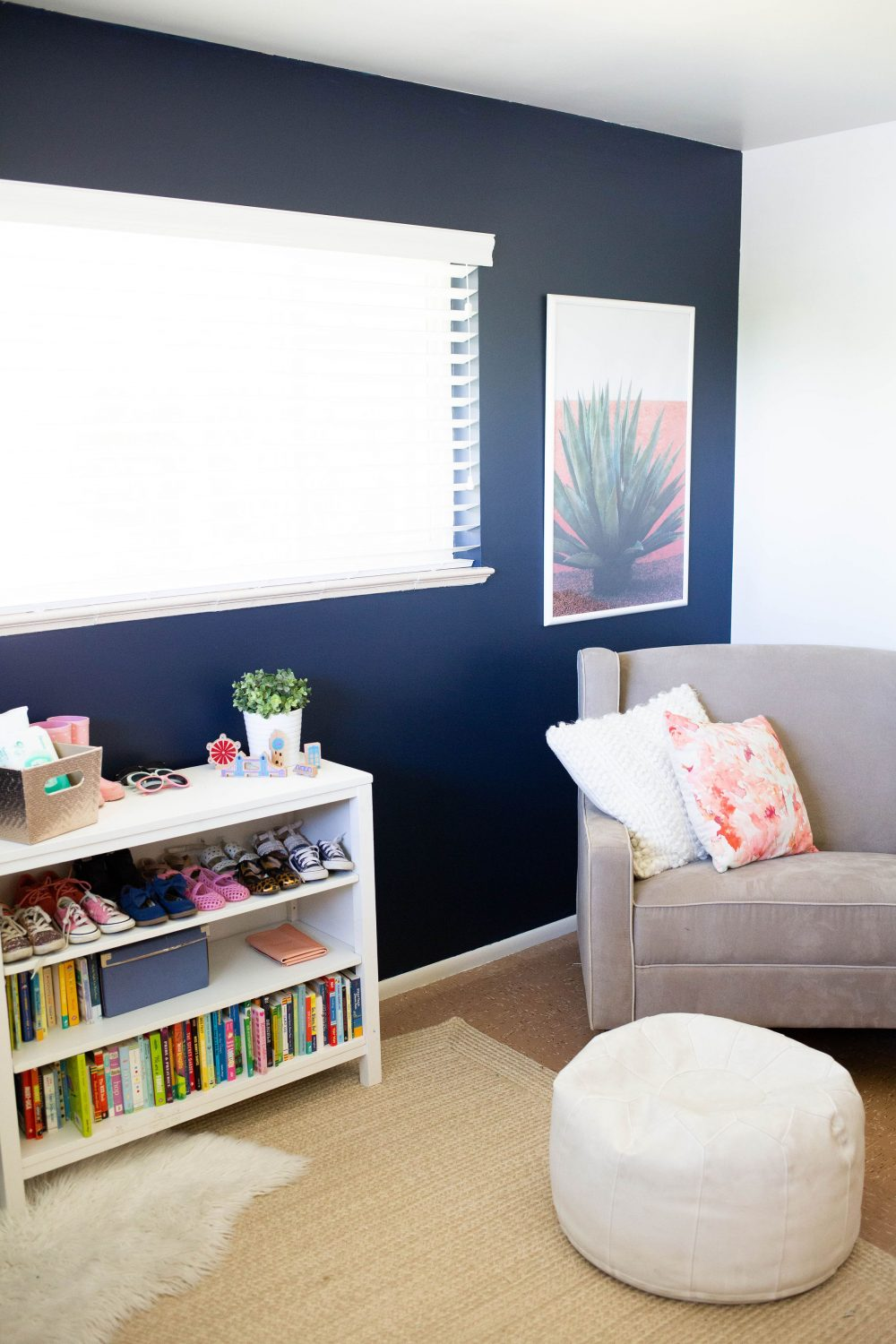 dark blue nursery