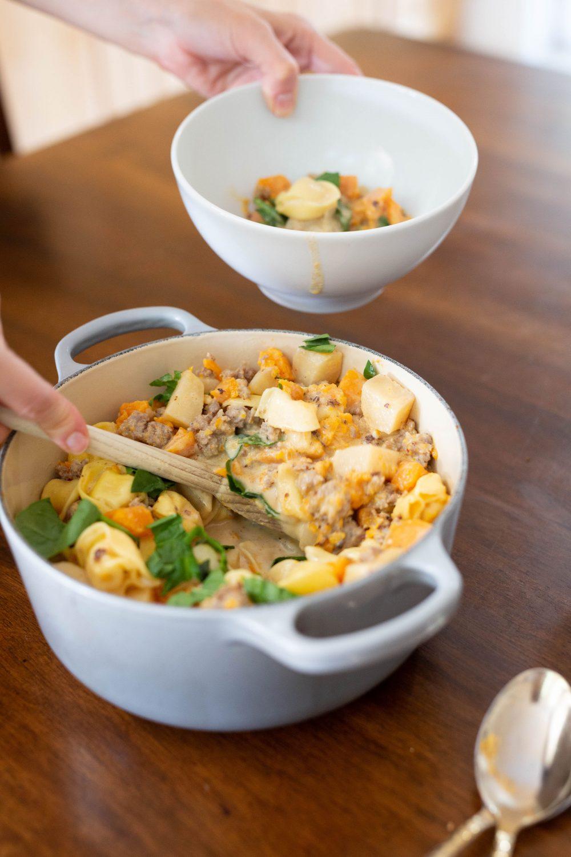 creamy sausage tortellini soup