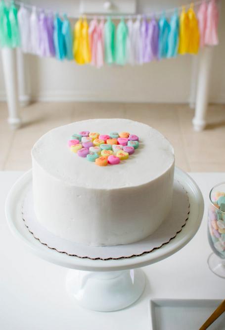 conversation heart cake topper