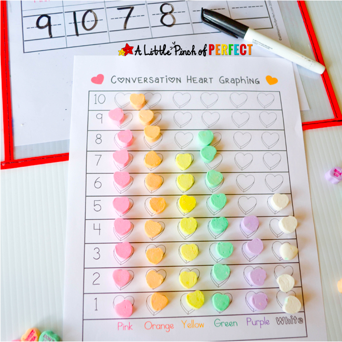 conversation heart sort and graph