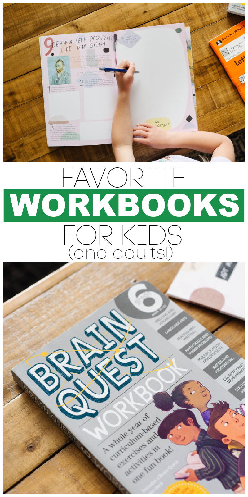 workbooks for kids